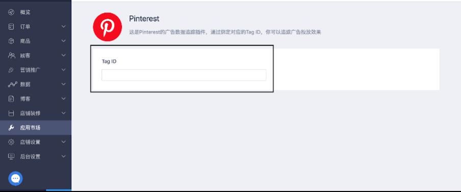独立站插件Pinterest粘贴标签