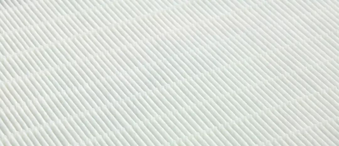 A white layers of HEPA filter that composed by thousands of folded filter matreial to increase the efficiency of dust collection and capacity.