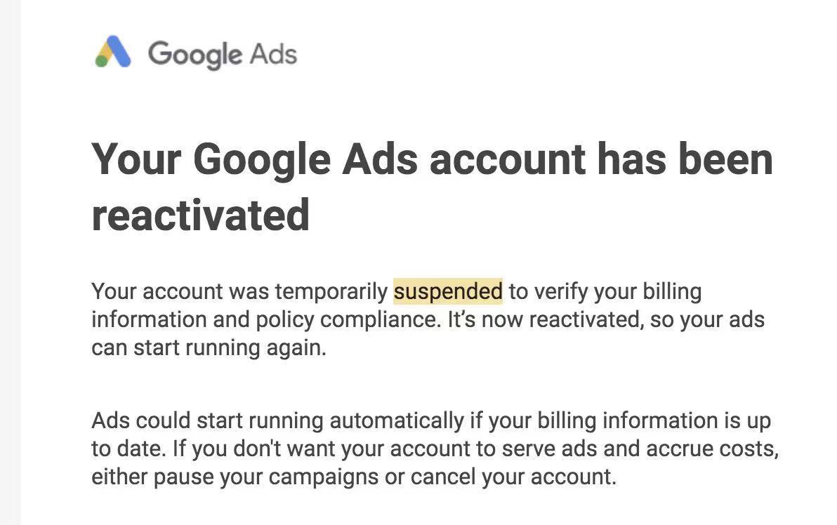 Google 账户解封申诉