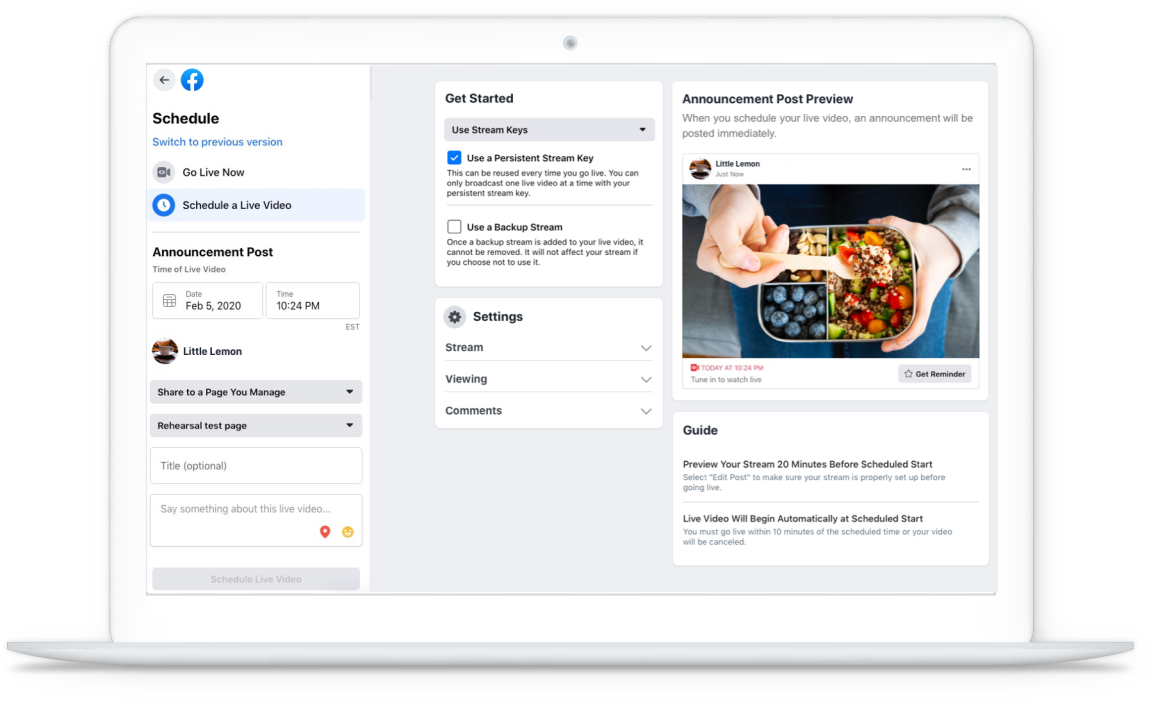 Facebook Live 开启直播电商卖货