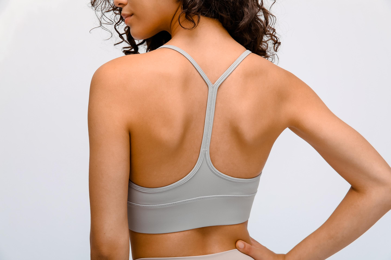 Women's vest sports bra gray