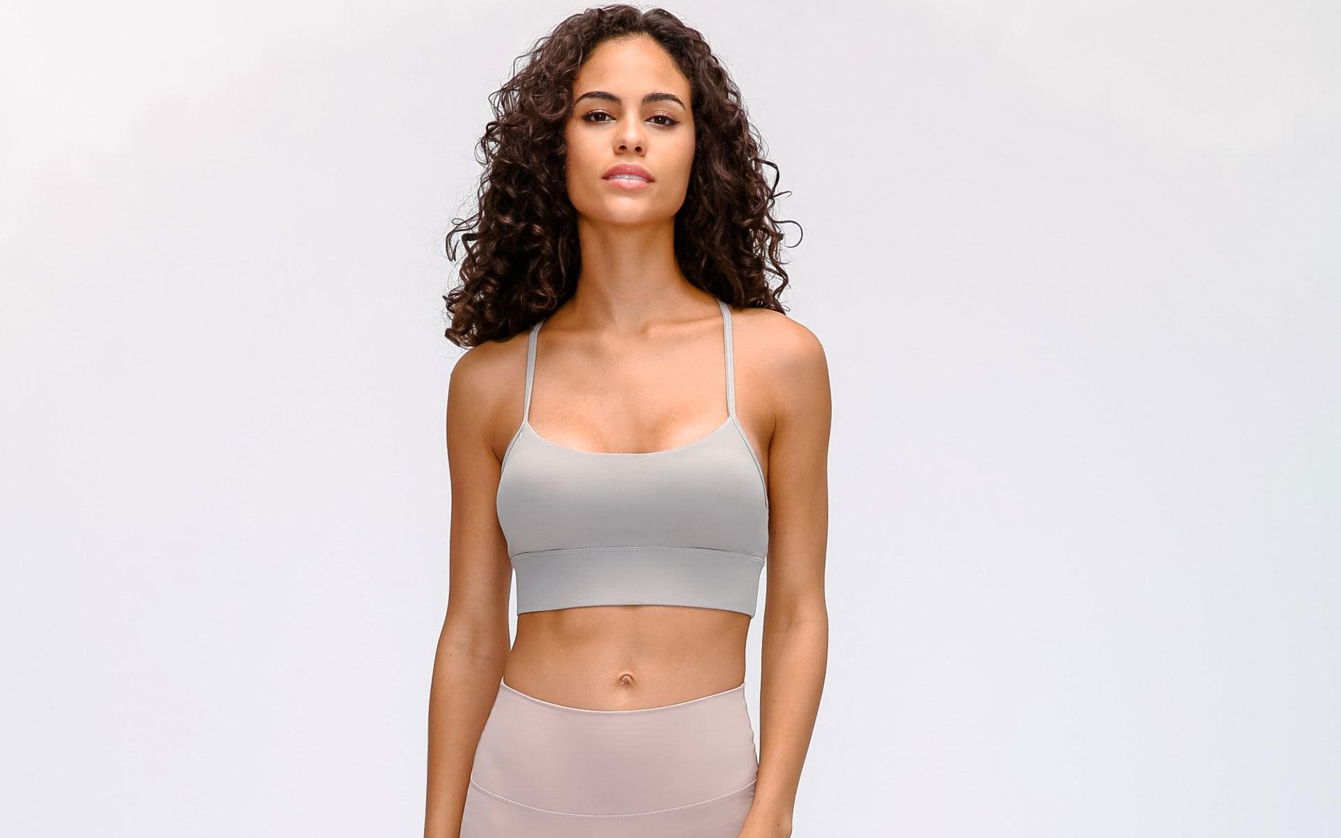Women's fitness sports bra gray