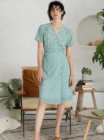 Flora Scattered Silk Dress