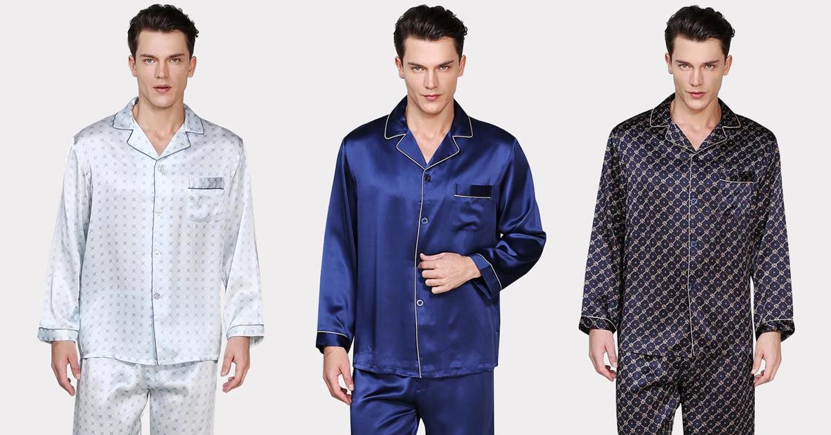 100% Pure Mens Silk Pajamas
