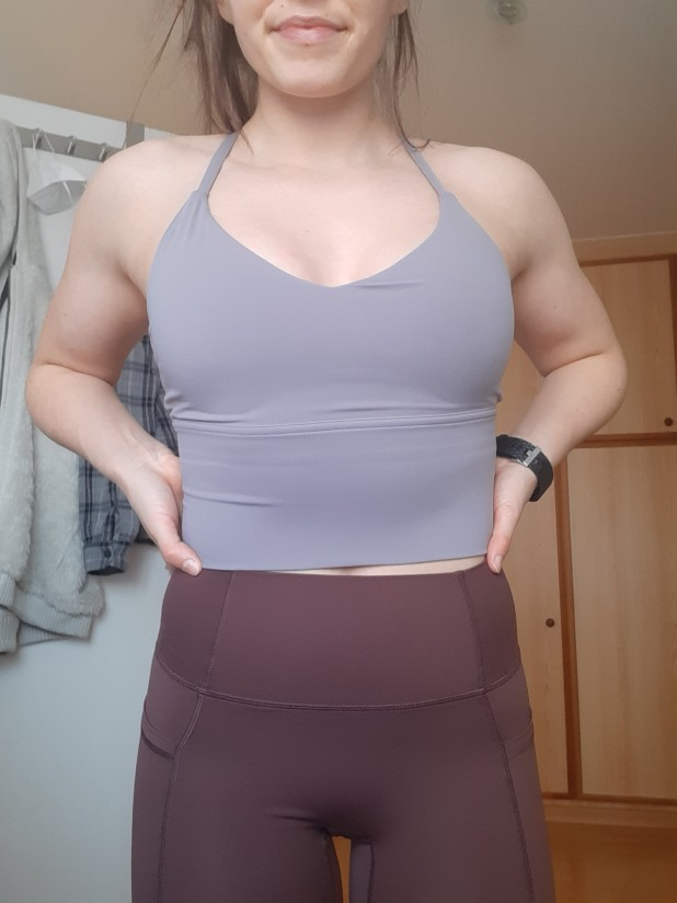 light purple tank top